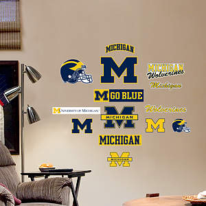 Michigan Wolverines - Team Logo Assortment Fathead Wall Decal